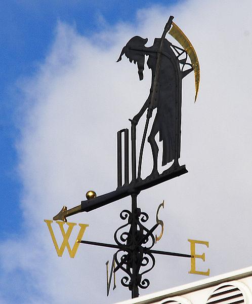 Father Time Weather Vane at Lords