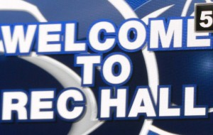 Rec Hall Scoreboard Welcome Closeup Square