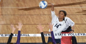 Aiyana Whitney's 18 kills against the Boilermakers were a career high