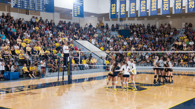 Michigan will host Penn State in Cliff Keen Arena, which started life as a swimming pool