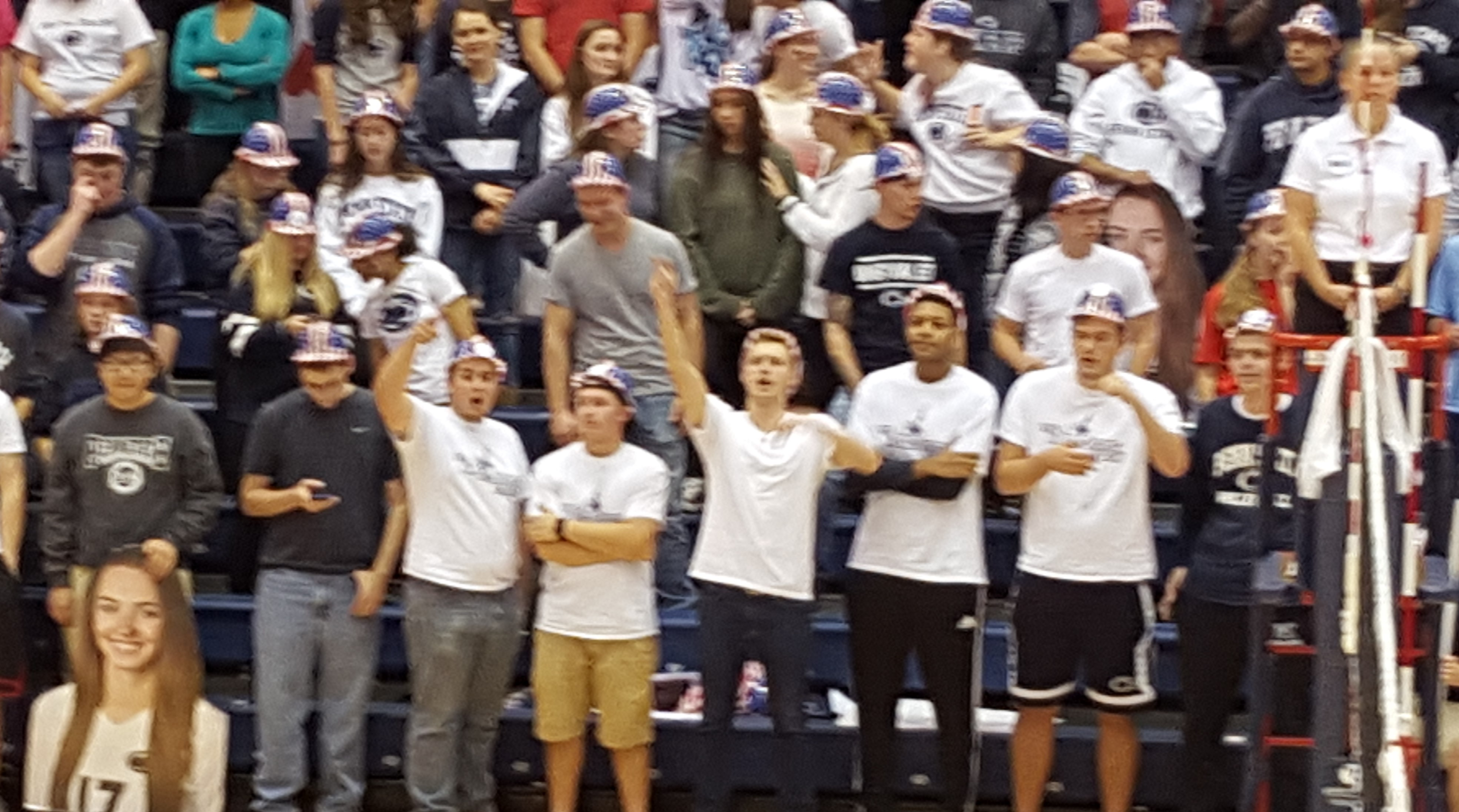 Penn State student wRECking Crew stands behind the team!