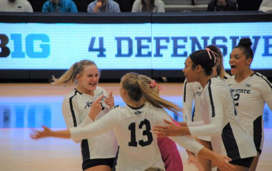 Penn State Women's Volleyball Beats Maryland 3-2 (with Post-Match Quotes)