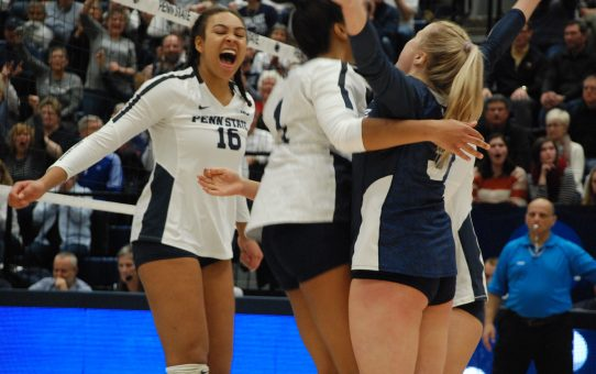 Penn State Women's Volleyball Beats Towson 3-1 (with Post-Match Quotes)