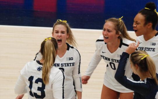 Penn State Women's Volleyball Beats Indiana 3-1