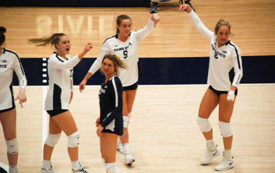 Penn State Women's Volleyball Downs Rutgers In Straight Sets
