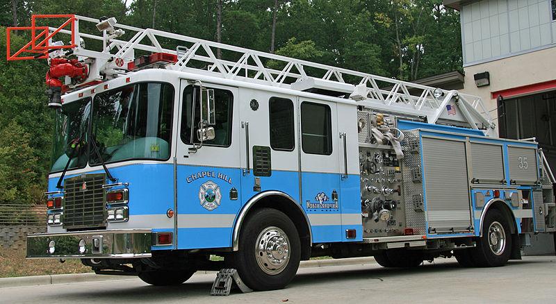 Carolina Blue Fire Truck